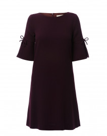Irinna Plum Wool Crepe Tunic Dress