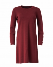 Berry Red Knit Shift Dress