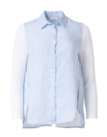 Blue and White Striped Linen Shirt