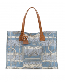 Light Blue Venezia Small Tote