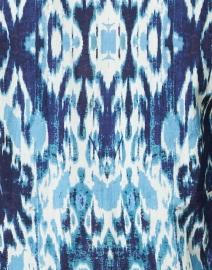 Ro's Garden - Deauville Blue Ikat Print Shirt Dress