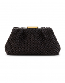 Mini Florence Black Crochet Clutch