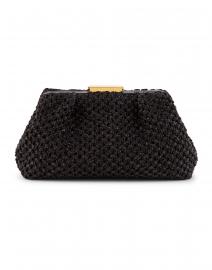 Mini Florence Black Crochet Clutch