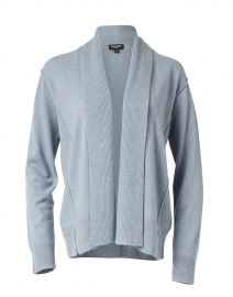 Dusty Blue Ribbed Cashmere Cardigan