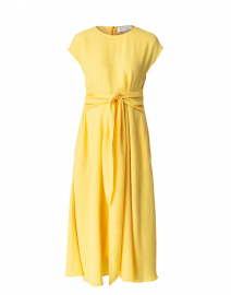 Decari Light Yellow Crepe Dress