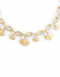 Oscar de la Renta - Gold and Pearl Ginkgo Necklace