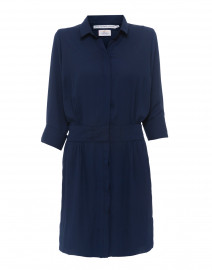 Breezy Blouson Navy Crepe Dress