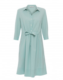 Seafoam Stretch Wool Crepe Dress