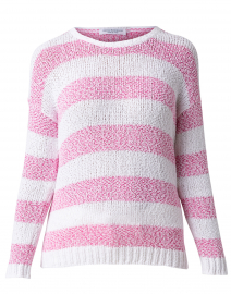 Conchiglia Pink Striped Cotton Sweater