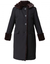 Black Techno Storm Coat