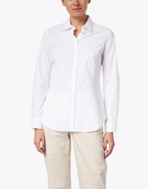 Piazza Sempione - White Stretch Cotton Poplin Shirt