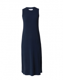 Allison Navy Bamboo Cotton Jersey Dress