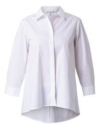 Isabella White Stretch Cotton Tunic