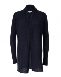 White + Warren - Navy Essential Cashmere Cardigan