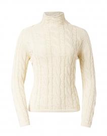 Cream Cotton Cable Sweater