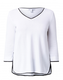 White Cotton Tunic Sweater