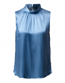 Light Blue Silk Satin Top
