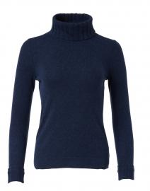 Navy Cashmere Turtleneck Sweater