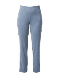 Milo Steel Blue Faux Suede Pull On Pant