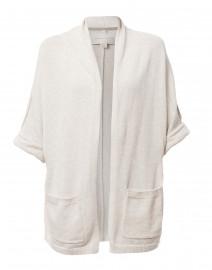 Moro Light Grey Cotton Cashmere Cardigan