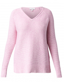 Pink Cotton Garter Stitch Sweater