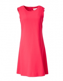 Lois Flamingo Red Wool Crepe Dress