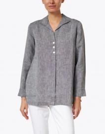 Hinson Wu - Beatrice Graphite Luxe Linen Faux Popover Tunic