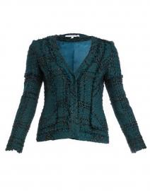 Estela Deep Green and Black Lurex Tweed Jacket