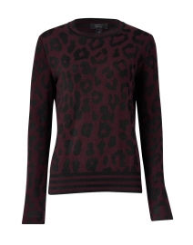 Plum and Black Animal Print Sweater
