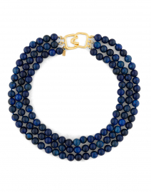 Genuine Lapis Beaded Necklace