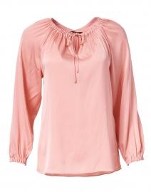 Payge Petal Pink Silk Peasant Blouse