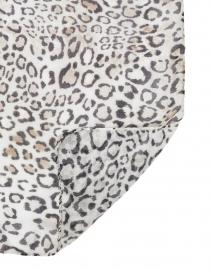 Leggiadro - Black and White Animal Print Modal Scarf