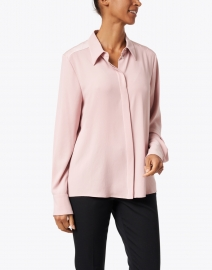 Marc Cain - Rose Pink Satin Button Down Shirt