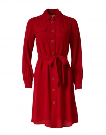 Miller Red Crepe Shirt Dress