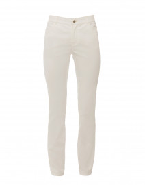 Thompson White Waxed Denim Stretch Jean