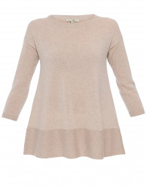 Saint Tropez Beige Cashmere Swing Sweater