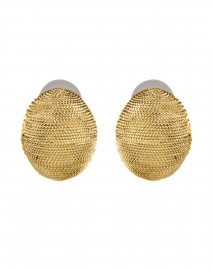 Gold Textured Round Earring