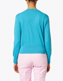 Allude - Tropical Blue Cotton Cashmere Sweater