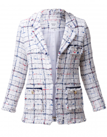 Carolyn White, Blue and Red Checked Tweed Jacket