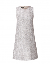 Cream and Black Silver Lurex Tweed Dress