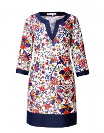 Elle Cream Floral Printed Dress