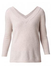 Beige V-Neck Cashmere Sweater