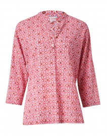 Ciara Pink Mosaic Print Cotton Top