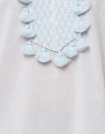 Sail to Sable - White Embroidered Cotton Tunic Top