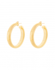 Milo Gold Cobra Hoop Earrings