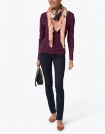 Blue - Bordeaux Cotton Cable Sweater