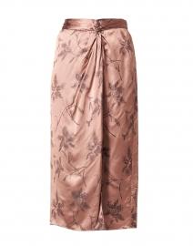 Pink Floral Print Twist Knot Skirt