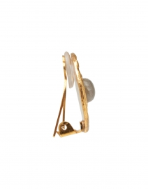 Sylvia Toledano - Labradorite Medallion Gold Stud Earrings
