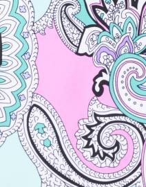 Jude Connally - Sonia Seafoam and Pink Paisley Print Skort
