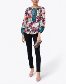 Kobi Halperin - Libby Mixed Floral Print Silk Blouse